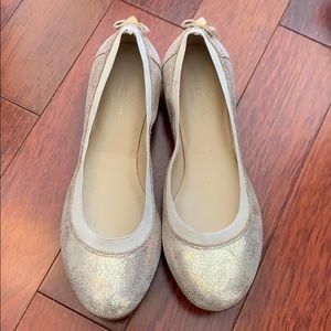 KateSpade Sz8 1/2 Metallic Gold Fleck Ballet Flats